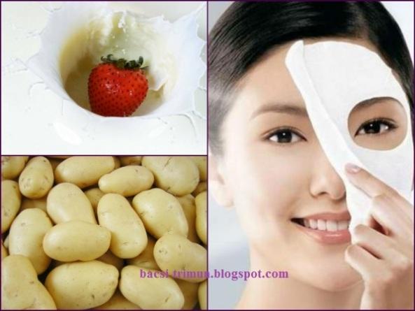 Kết hợp sữa tươi& khoai tây trị mụn đầu đen hiệu quả
